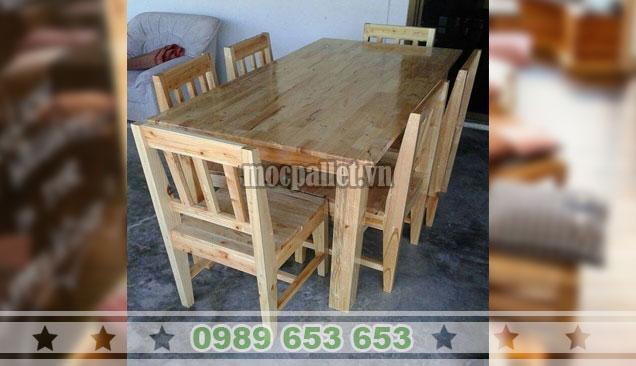 Bộ bàn ghế ăn gỗ thông nhập khẩu BG112