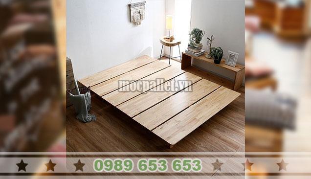 Mẫu giường gỗ thông GN112