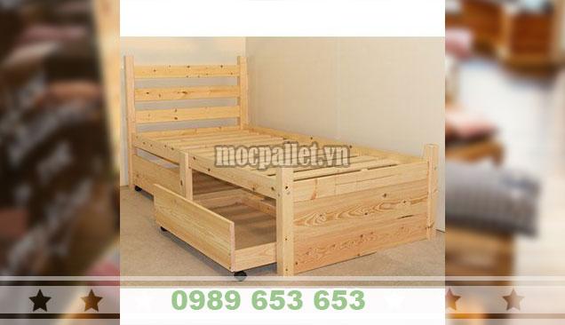 Giường ngủ gỗ thông GN114