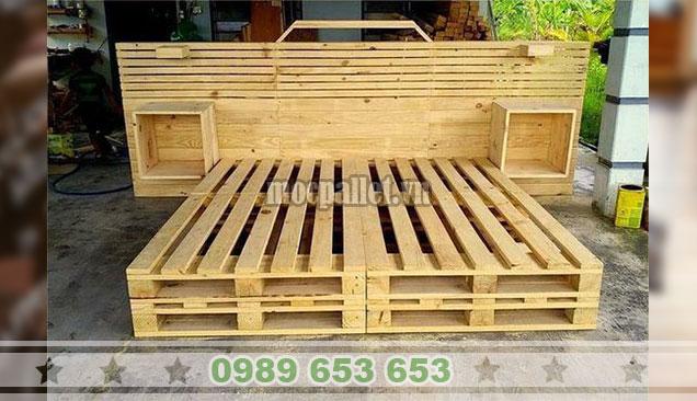 Giường ngủ gỗ thông pallet GN103