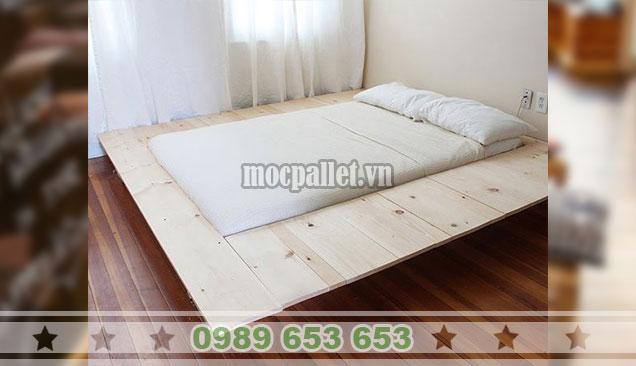 Giường ngủ gỗ thông pallet GN105