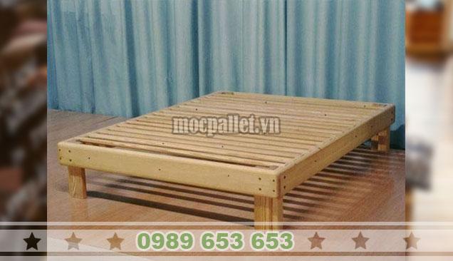 Giường ngủ gỗ thông pallet GN106