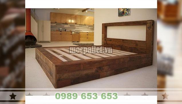 Giường ngủ gỗ thông pallet GN107