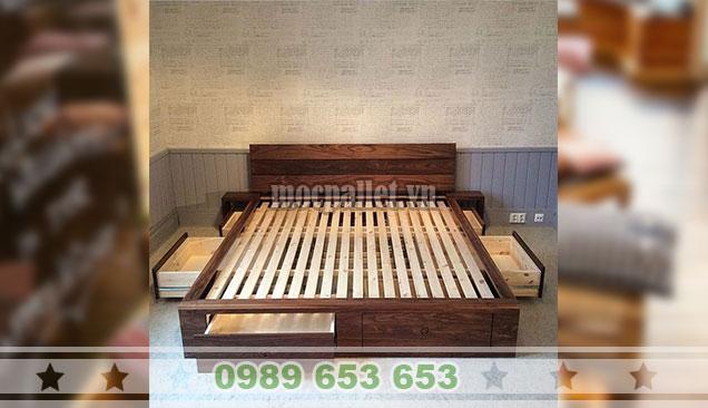 Giường ngủ gỗ thông pallet GN109