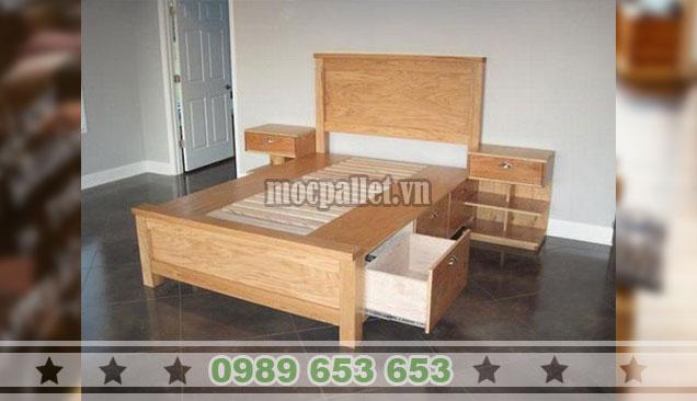 Giường ngủ gỗ GN115