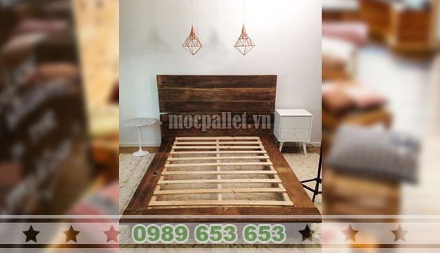 Mẫu giường gỗ thông GN122