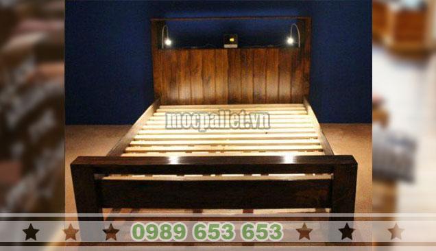 Mẫu giường gỗ thông GN123
