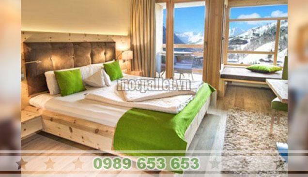 Mẫu giường hộp gỗ thông GH01