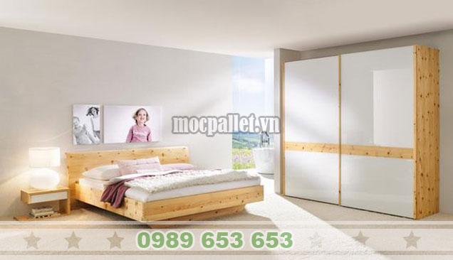 Mẫu giường hộp đẹp cho phòng ngủ gia đình GH03