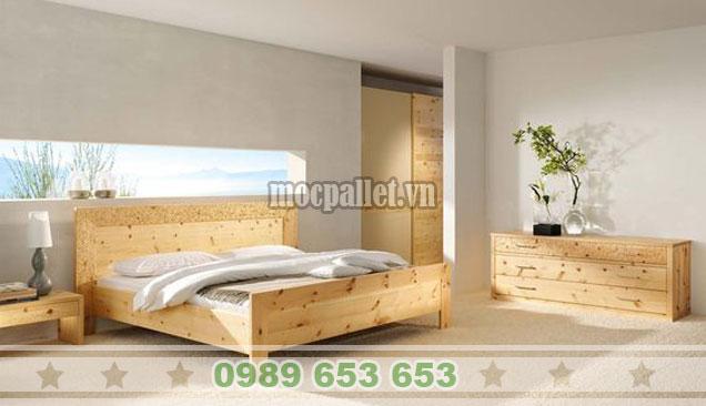 Mẫu giường hộp gỗ thông hot nhất 2019 GH06