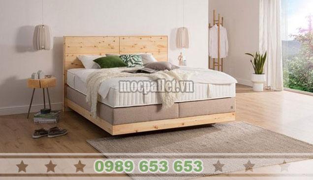 Mẫu giường hộp gỗ thông 1m6x2m GH08