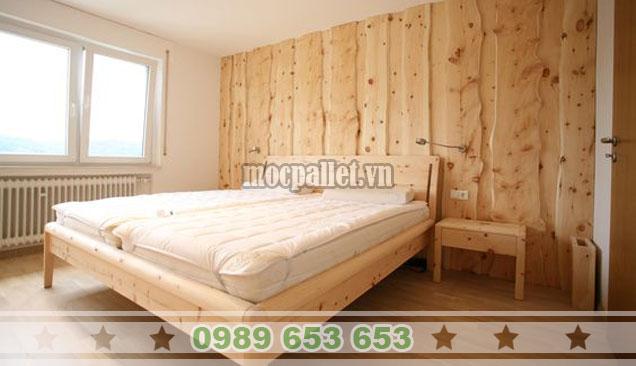 Mẫu giường hộp gỗ thông không ngăn GH09