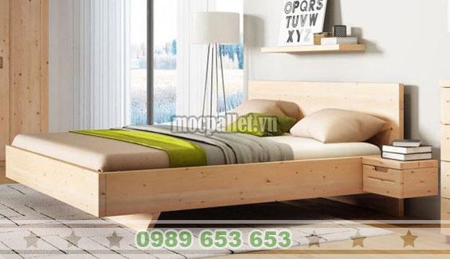 Mẫu giường hộp kết hợp với kệ sách GH10