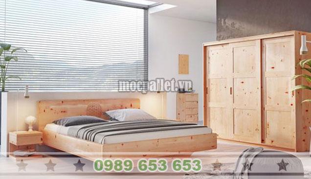 Mẫu giường hộp kết hợp với tủ gia đình đẹp GH15