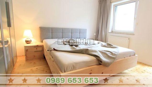 Mẫu giường hộp gỗ thông 2 tầng GH18