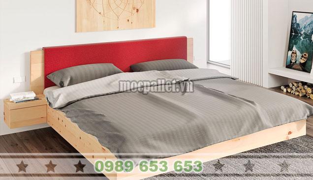 Mẫu giường hộp gỗ thông đa năng GH19