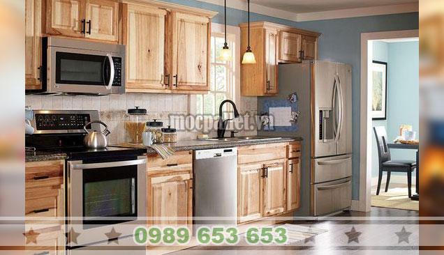 Tủ bếp gỗ thông 3 ngăn TB37