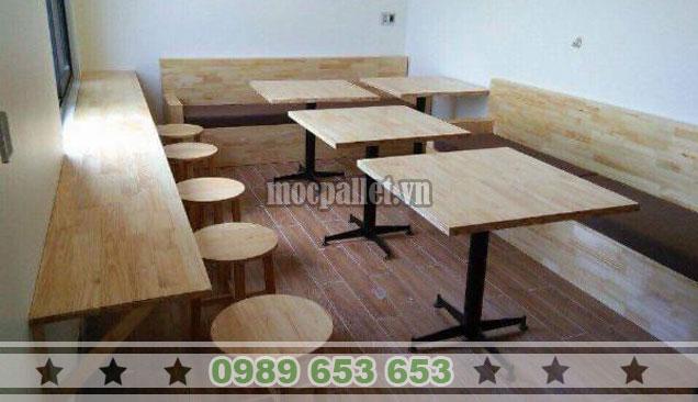 Mẫu bàn ghế gỗ thông tại Hà Nội BG130