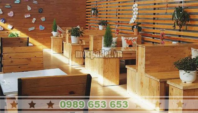 Bàn ghế gỗ thông cho quán cafe BG135