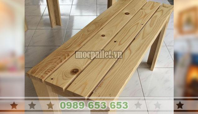 Mẫu ghế gỗ thông pallet giá rẻ BG150