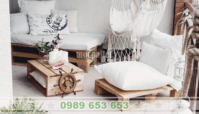 Mẫu bàn ghế sofa gỗ thông đẹp BG151