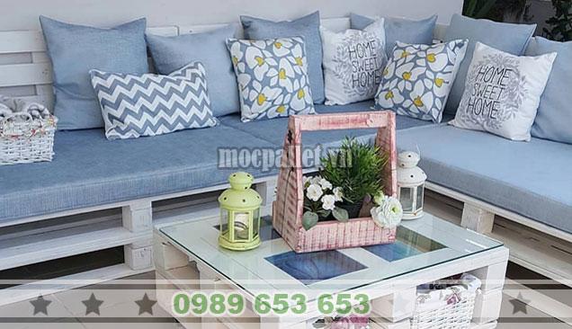 Bộ bàn ghế sofa pallet đẹp PK32