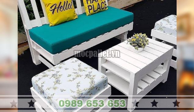 Bộ bàn ghế sofa pallet đẹp nhất PK35