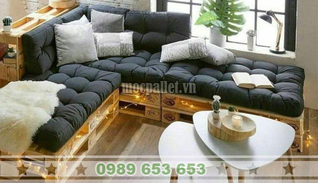 Mẫu ghế sofa pallet 1m6x1m8 PK37