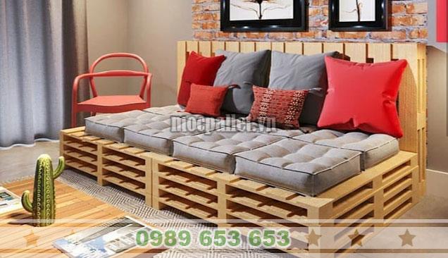 Mẫu ghế sofa pallet 3 tầng PK39