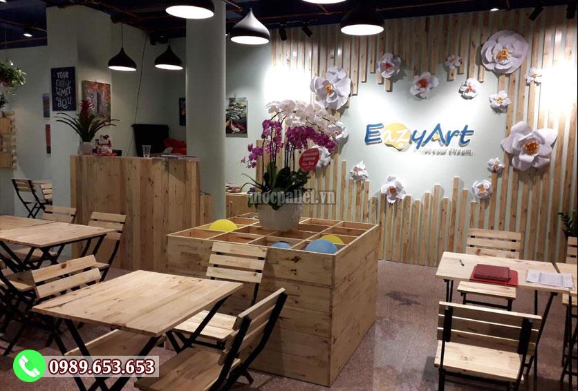 Dự án thiết kế và thi công quán cafe EazyArt -Trần Hưng Đạo - Hn