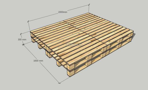 Giường pallet 2 tầng có tầng dưới