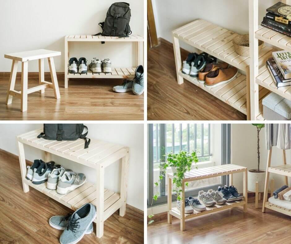 Kệ gỗ để giày