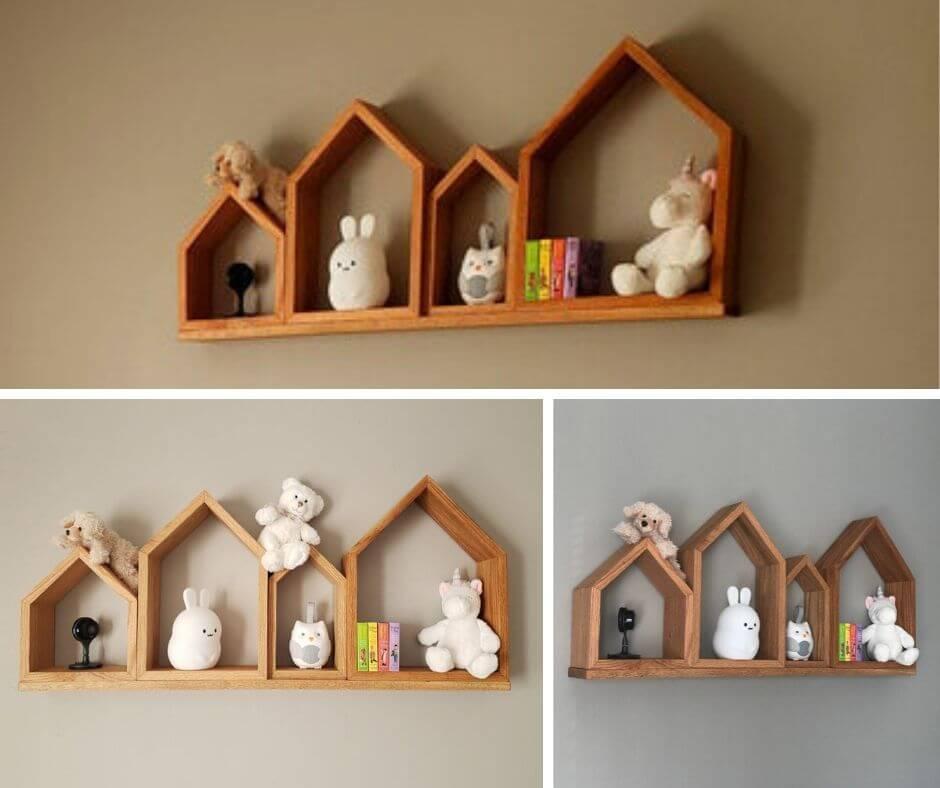 Kệ gỗ treo tường ngôi nhà